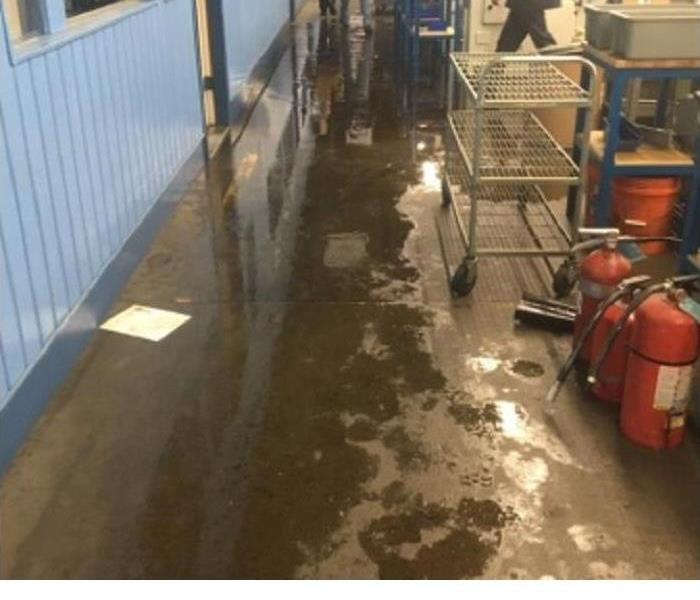 Broken Pipe Floods Facility