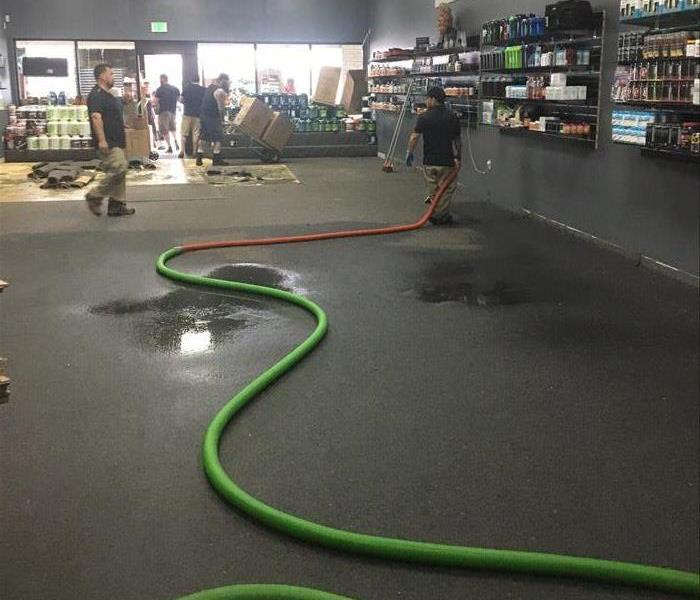 Vitamin Shop Suffers Water Loss